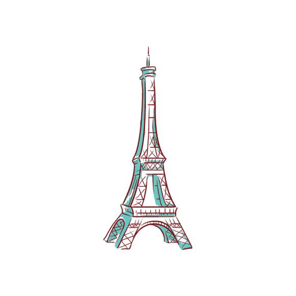 Paris Landmarks And Icons Vector Set 1 Vector Paris 1