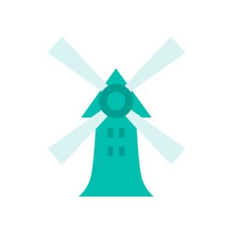 Paris Vector Windmill Clip Art - SVG & PNG vector