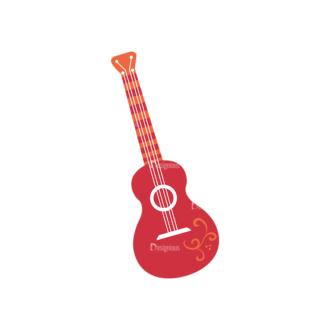 Party Music Instruments Vector Set 1 Vector Guitar Clip Art - SVG & PNG vector