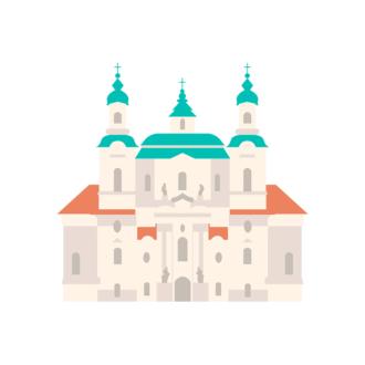 Prague Vector Castle 05 Clip Art - SVG & PNG vector