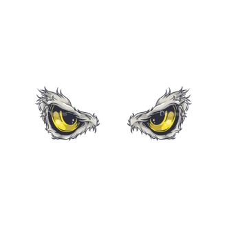Predator Eyes Vector 1 6 Clip Art - SVG & PNG vector
