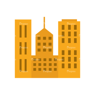 Real Estate Agent Vector Buildings Clip Art - SVG & PNG vector