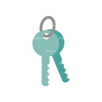 Real Estate Agent Vector Key Clip Art - SVG & PNG vector