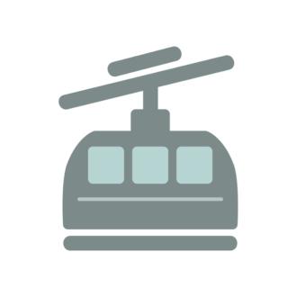 Rio De Janerio Vector Cable Car Clip Art - SVG & PNG vector
