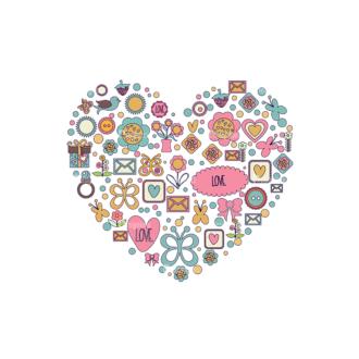 Romantic Vector Set 18 Vector Heart Clip Art - SVG & PNG vector