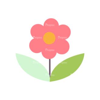 Romantic Vector Set 19 Vector Flower 02 Clip Art - SVG & PNG vector