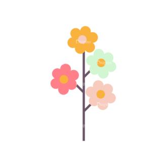Romantic Vector Set 19 Vector Flowers 01 Clip Art - SVG & PNG vector