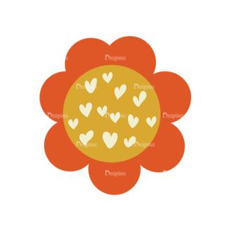 Romantic Vector Set 19 Vector Flowers 03 Clip Art - SVG & PNG vector