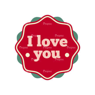 Romantic Vector Set 19 Vector I Love You Clip Art - SVG & PNG vector