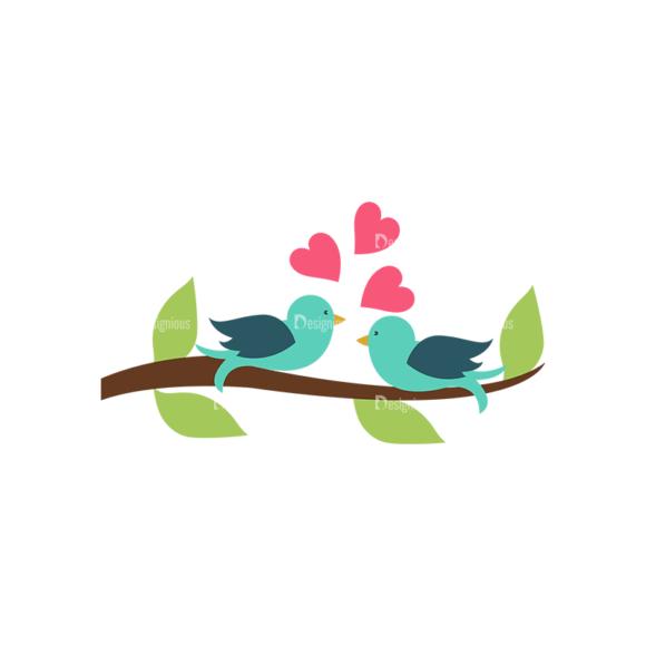 Romantic Vector Set 19 Vector Love Birds 5