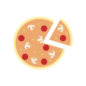 Rome Vector Pizza Clip Art - SVG & PNG vector