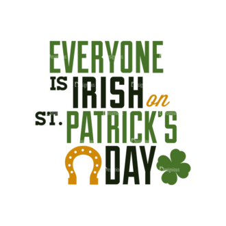 Saint Patrick'S Day Set 3 Vector Expanded Everyone Is Irish On   Text Clip Art - SVG & PNG vector