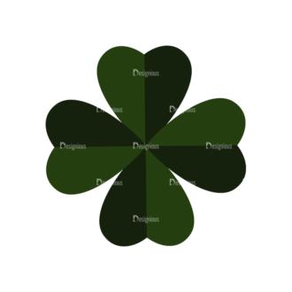 Saint Patrick'S Day Set 3 Vector Expanded Leaf Clip Art - SVG & PNG leaf