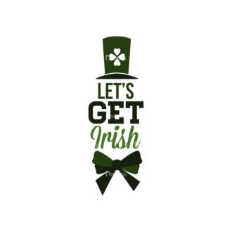 Saint Patrick'S Day Set 3 Vector Expanded Lets Get Irish Clip Art - SVG & PNG vector