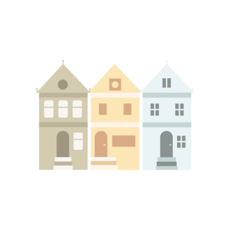 San Francisco Vector House Clip Art - SVG & PNG vector