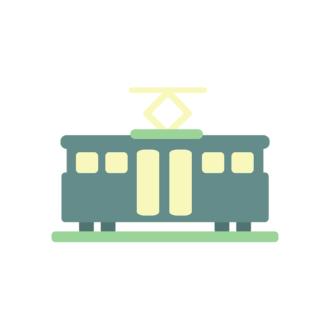 San Francisco Vector Train Clip Art - SVG & PNG vector