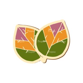 Scrapbooking Vector Large Leaf Clip Art - SVG & PNG leaf