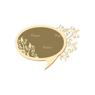 Scrapbooking Vector Large Speech Bubbles 02 Clip Art - SVG & PNG vector