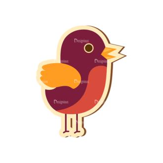 Scrapbooking Vector Large Bird Clip Art - SVG & PNG vector