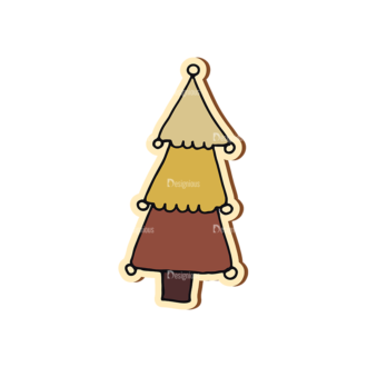 Scrapbooking Vector Large Christmas Tree Clip Art - SVG & PNG tree