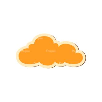 Scrapbooking Vector Large Cloud 17 Clip Art - SVG & PNG vector
