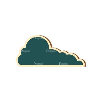 Scrapbooking Vector Large Cloud 18 Clip Art - SVG & PNG vector