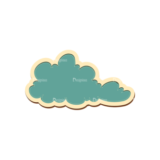 Scrapbooking Vector Large Cloud 20 Clip Art - SVG & PNG vector