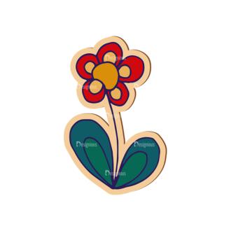 Scrapbooking Vector Large Flower 09 Clip Art - SVG & PNG vector