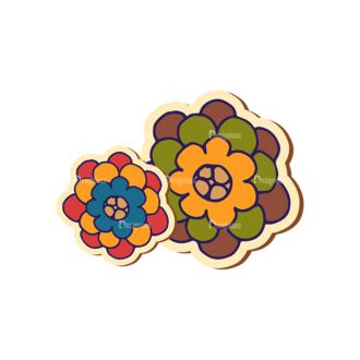 Scrapbooking Vector Large Flower 14 Clip Art - SVG & PNG vector