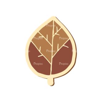 Scrapbooking Vector Large Leaf 13 Clip Art - SVG & PNG leaf