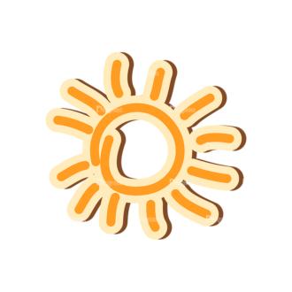 Scrapbooking Vector Large Sun 22 Clip Art - SVG & PNG vector
