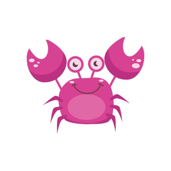Sea Creatures Vector 4 Vector Crab 1