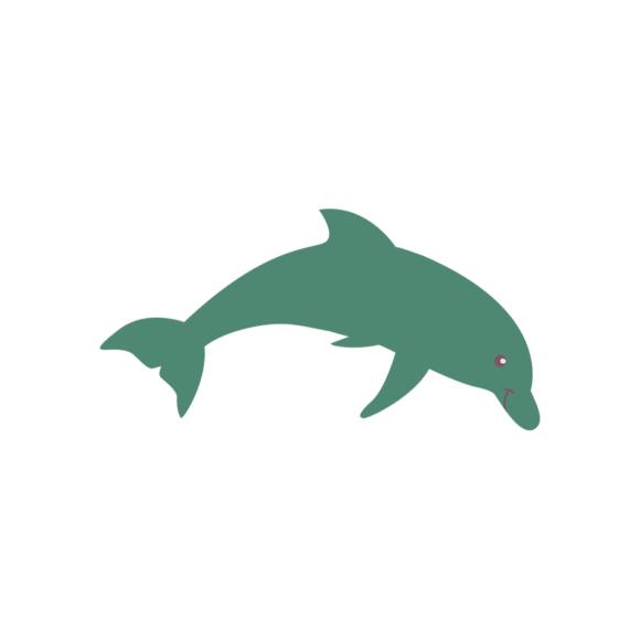 Sea Creatures Vector 4 Vector Dolphin 1