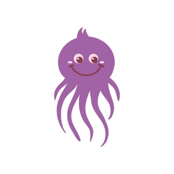 Sea Creatures Vector 4 Vector Octupos 1