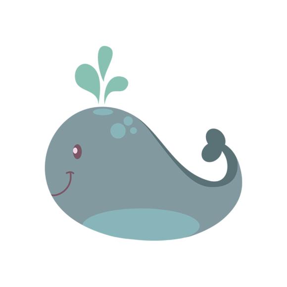 Sea Creatures Vector 4 Vector Whale 1