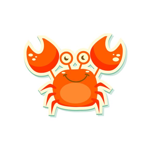 Sea Creatures Vector 5 Vector Crab 1