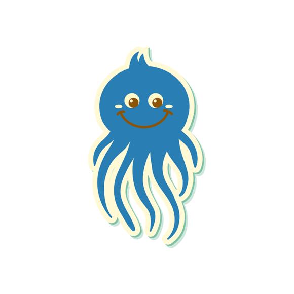 Sea Creatures Vector 5 Vector Octupos 1