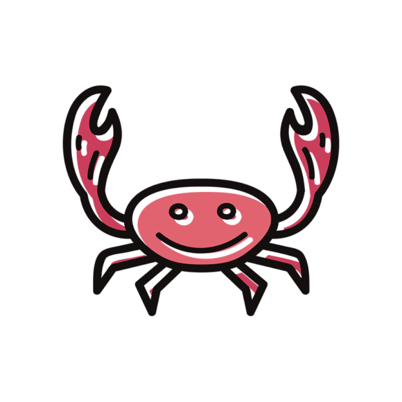 Sea Creatures Vector 6 Vector Crab 1