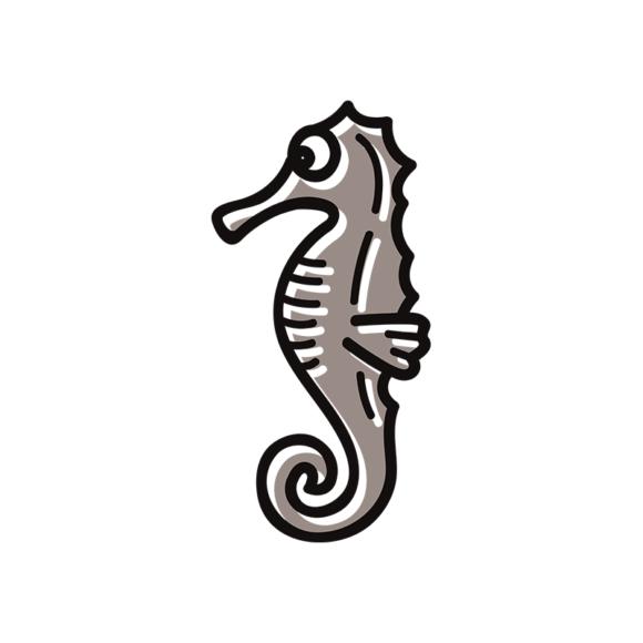 Sea Creatures Vector 6 Vector Sea Horse 1