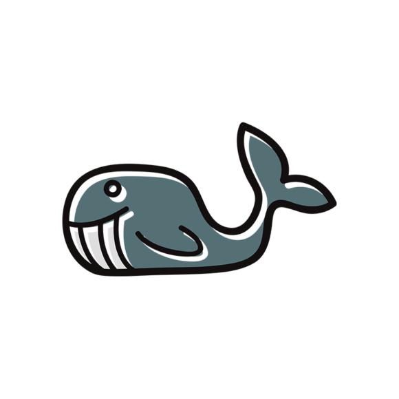 Sea Creatures Vector 6 Vector Whale 1