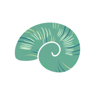 Sea Fauna Vector 3 Vector Shell 01 Clip Art - SVG & PNG sea