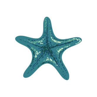 Sea Fauna Vector 3 Vector Star Fish Clip Art - SVG & PNG sea