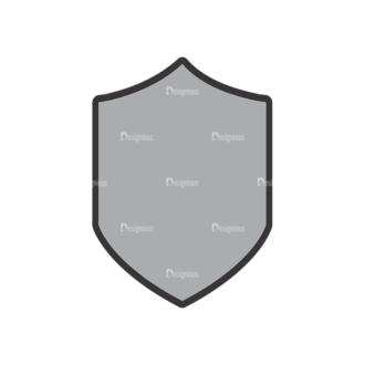 Shield Vector 1 4 Clip Art - SVG & PNG vector