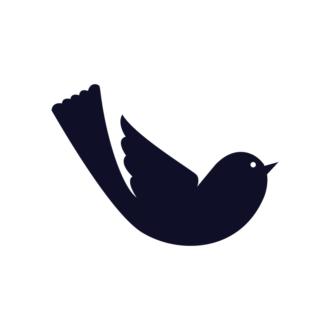 Simple Flat Birds 1 Vector Bird 10 Clip Art - SVG & PNG vector