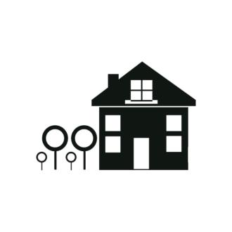 Simple Flat Buildings Set 1 Vector House 05 Clip Art - SVG & PNG vector