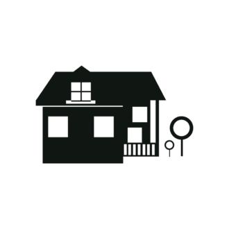 Simple Flat Buildings Set 1 Vector House 09 Clip Art - SVG & PNG vector