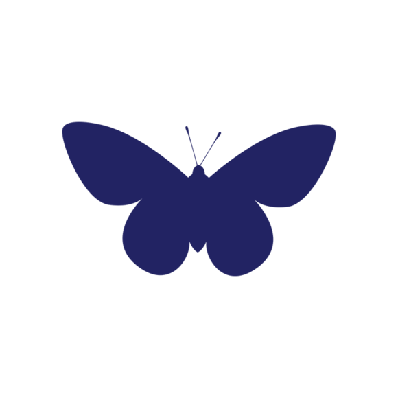 Simple Flat Butterlfy 1 Vector Butterfly 06 1