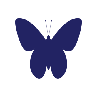 Simple Flat Butterlfy 1 Vector Butterfly 07 Clip Art - SVG & PNG vector
