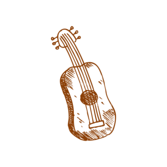Sketch Music Instruments Set 1 Vector Guitar Clip Art - SVG & PNG vector
