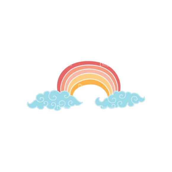 Sky Doodle Vector  Set 5 Vector Rainbow 5